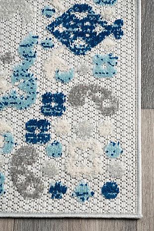 Nuloom Castle Medallion Indoor/Outdoor 5' x 8' Area Rug, Blue, large
