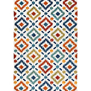 Nuloom Floral Fireworks Indoor/Outdoor 5' x 8' Area Rug, Multi, large