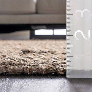 """Nuloom Hand Woven Chunky Loop Jute 7' 6"""" x 9' 6"""" Area Rug, Natural, large"""