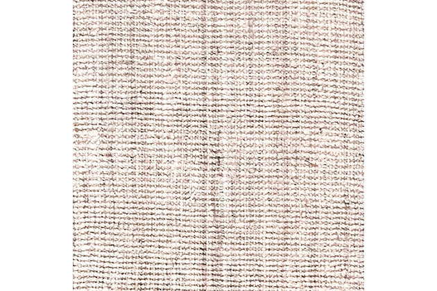 "Nuloom Hand Woven Chunky Loop Jute 2' 6"" x 10' Runner Rug, Off White, large"