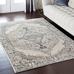 "Home Accents Marrakesh 5' 3"" x 7' 3"" Area Rug, Beige, large"