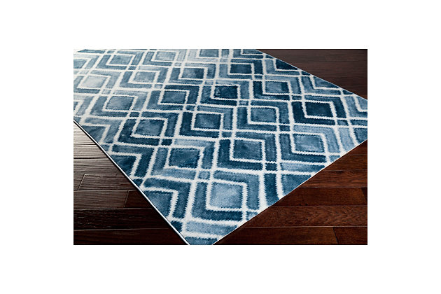 "Home Accents Nova 5' 2"" x 7' 6"" Area Rug, Blue, large"