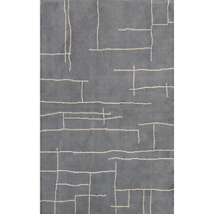 Nuloom Modern Abstract Vivian 5' x 8' Area Rug, Gray, large