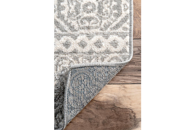 Nuloom Transitional Floral Jeanette 5' x 8' Area Rug, Gray, large