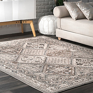 Nuloom Melange Tiles 4' x 6' Area Rug, Gray, large
