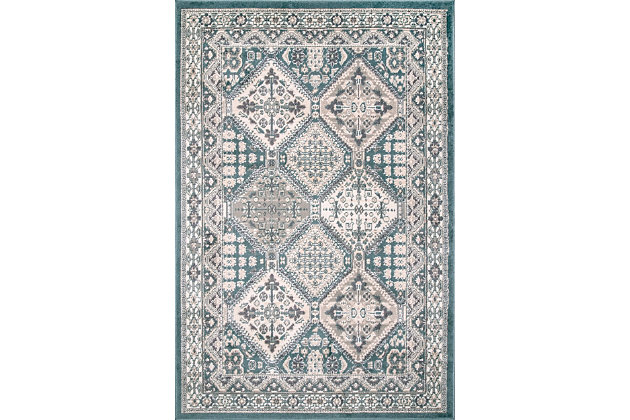 Nuloom Melange Tiles 8' x 10' Area Rug, Blue, large