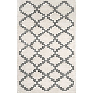 Nuloom Geometric Faustina 5' x 8' Area Rug, Cream, large