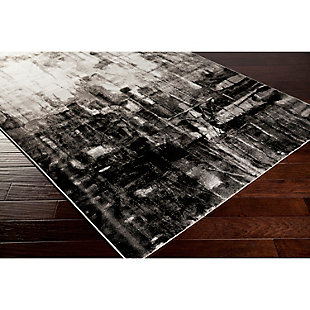 "Home Accents Nova 5' 2"" x 7' 6"" Area Rug, Black, rollover"
