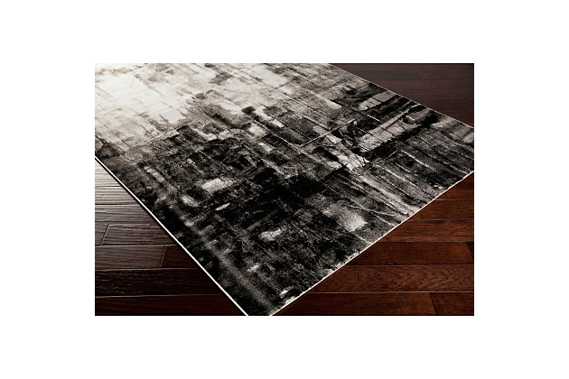 "Home Accents Nova 7' 8"" x 10' 6"" Area Rug, Black, large"
