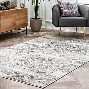 Nuloom Withered Floral 5' x 8' Area Rug, Gray, rollover