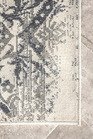 Nuloom Withered Floral 5' x 8' Area Rug, Gray, large