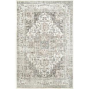 Nuloom Vintage Tanith 5' x 8' Area Rug, Cream, large