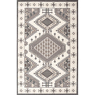 Nuloom Vintage Alienor 5' x 8' Area Rug, Cream, large