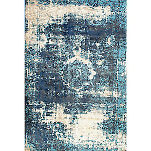 "Nuloom Distressed Foggy Medallion 5' 3"" x 7' 8"" Area Rug, Blue, large"