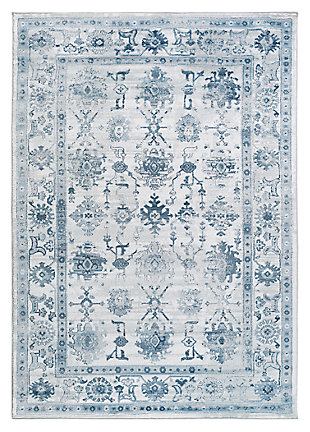 "Home Accents Nova 2' 2"" x 3' Area Rug, Blue, large"