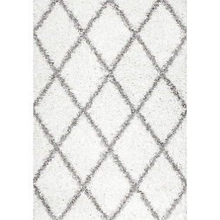 "Nuloom Shanna Shaggy 5' 3"" x 7' 6"" Area Rug, White, large"