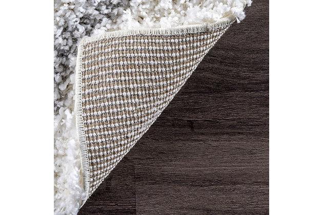 """Nuloom Shanna Shaggy 5' 3"""" x 7' 6"""" Area Rug, White, large"""
