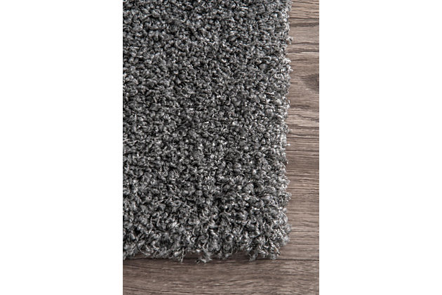 "Nuloom Marleen Plush Shag 5' 3"" x 7' 6"" Area Rug, Gray, large"