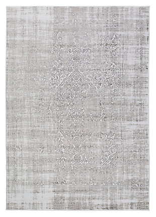 "Home Accents Nova 3' 9"" x 5' 2"" Area Rug, Gray, large"