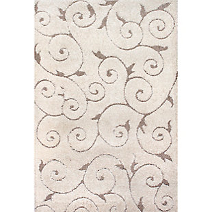 "Nuloom Carolyn Shaggy Curves 5' 3"" x 7' 6"" Area Rug, Cream, large"