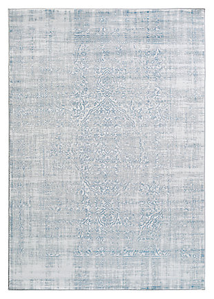 "Home Accents Nova 3' 9"" x 5' 2"" Area Rug, Blue, large"