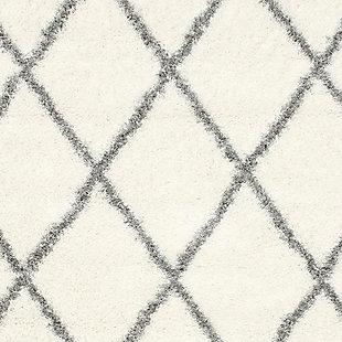"Nuloom Classic Diamond Shag 6' 7"" x 9' Area Rug, Gray, large"