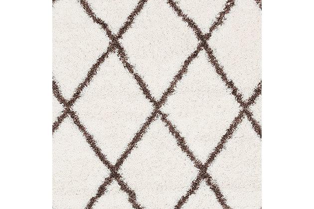 "Nuloom Classic Diamond Shag 5' 3"" x 7' 6"" Area Rug, Brown, large"