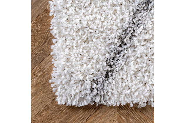 "Nuloom Alvera Easy Shag 5' 3"" x 7' 6"" Area Rug, White, large"