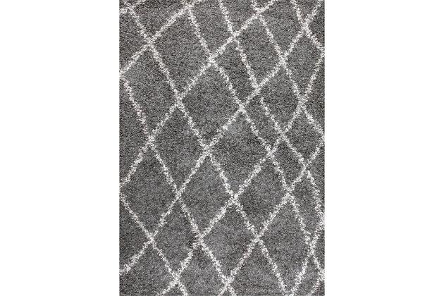 "Nuloom Alvera Easy Shag 5' 3"" x 7' 6"" Area Rug, Gray, large"