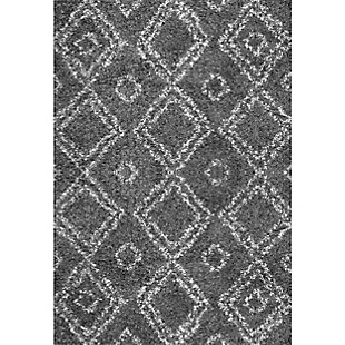 "Nuloom Lola Easy Shag 7' 10"" x 10' Area Rug, Gray, large"
