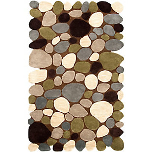 Nuloom Hand Tufted Pebbles 5' x 8' Area Rug, Brown, large