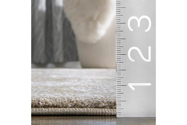 """Nuloom Lindsay Vintage Persian 6' 7"""" x 9' Area Rug, Brown, large"""