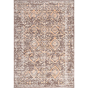"Nuloom Vintage Kylie Faded 5' x 7' 5"" Area Rug, Brown, large"