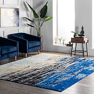 "Nuloom Katharina Abstract Waterfall 5' x 7' 5"" Area Rug, Blue, rollover"
