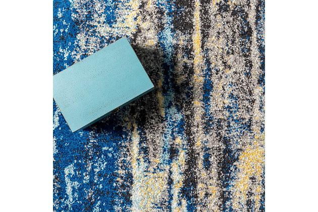 "Nuloom Katharina Abstract Waterfall 5' x 7' 5"" Area Rug, Blue, large"
