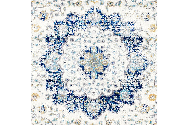 "Nuloom Traditional Medallion Verona 5' x 7' 5"" Area Rug, Blue, large"