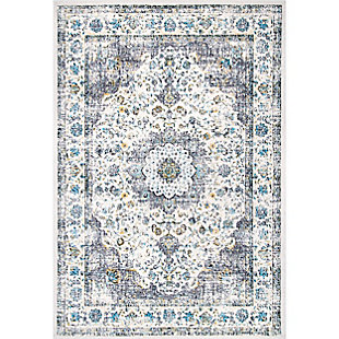 Nuloom Traditional Medallion Verona 3' x 5' Area Rug, Gray, large