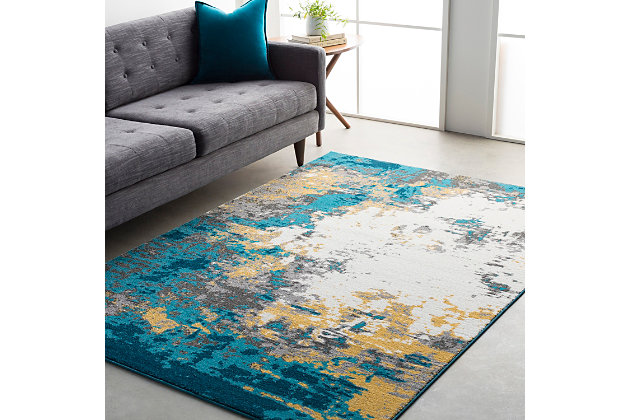 "Home Accents Pepin 5' 3"" x 7' 6"" Area Rug, Blue, large"