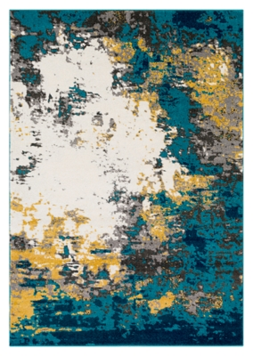 """Home Accents Pepin 5' 3"""" X 7' 6"""" Area Rug, Blue, large"""