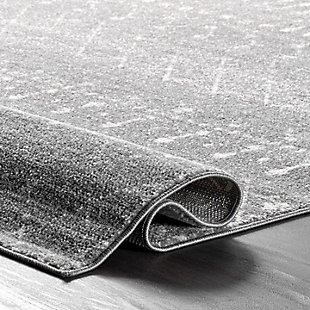 Nuloom Moroccan Trellis 2' x 3' Accent Rug, Dark Gray, large