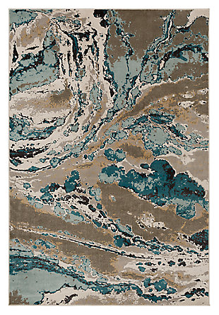 "Home Accents Steinberger 5' 3"" x 7' 6"" Area Rug, Blue, large"