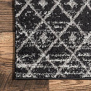 """Nuloom Moroccan Trellis 5' x 7' 5"""" Area Rug, Black, large"""