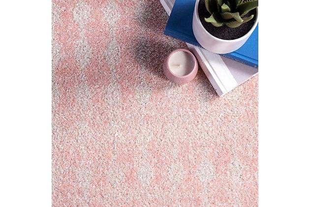 Nuloom Moroccan Trellis 4' x 6' Area Rug, Pink, large