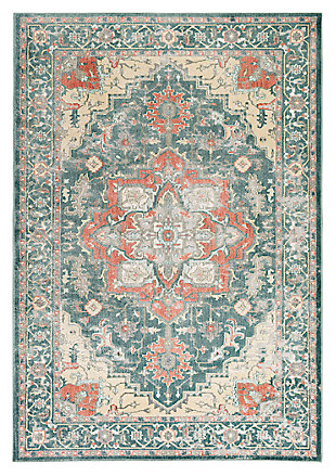 "Home Accents Serene 1' 10"" x 2' 11"" Area Rug, Green, large"
