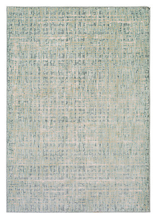 "Home Accents Serene 5' 3"" x 7' 3"" Area Rug, Green, large"