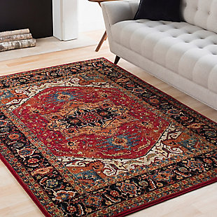 Home Accents Serapi 2' x 3' Area Rug, Red, large