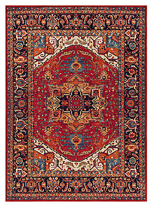 "Home Accents Serapi 5' 3"" x 7' 3"" Area Rug, Red, large"