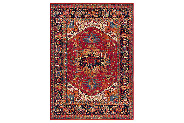 "Home Accents Serapi 3' 11"" x 5' 7"" Area Rug, Red, large"