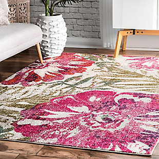 Nuloom Maria Floral 4' x 6' Area Rug, Pink, rollover