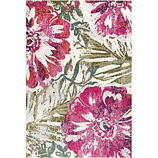 Nuloom Maria Floral 4' x 6' Area Rug, Pink, large